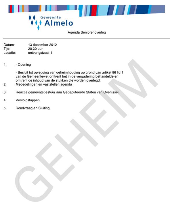 20121213 Agenda seniorenoverleg 13 december 2012