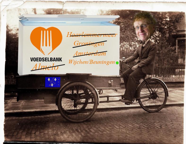 Harry de Olde fietste stad en land af om een vrieskist te slijten.